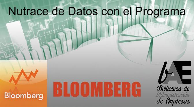 Taller sobre la base de datos Bloomberg
