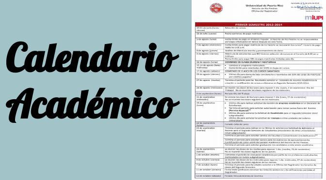 Calendario Academico AGOSTO 2013