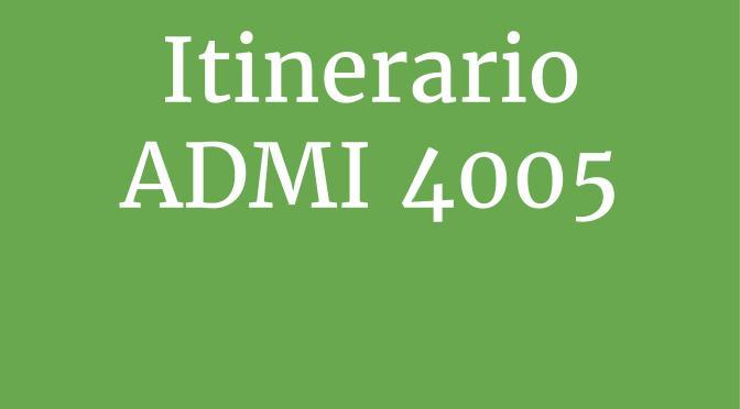 Itinerario de talleres de Competencias de Información ADMI 4005