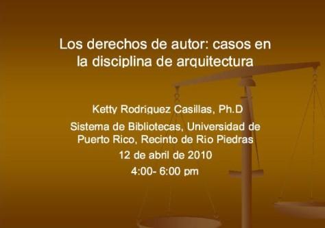 Ley de Derechos de Autor, casos en la disciplina de Arquitectura