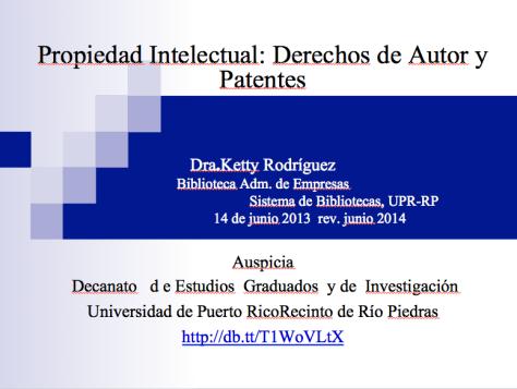 Propiedad intelectual derechos de autor y patentes