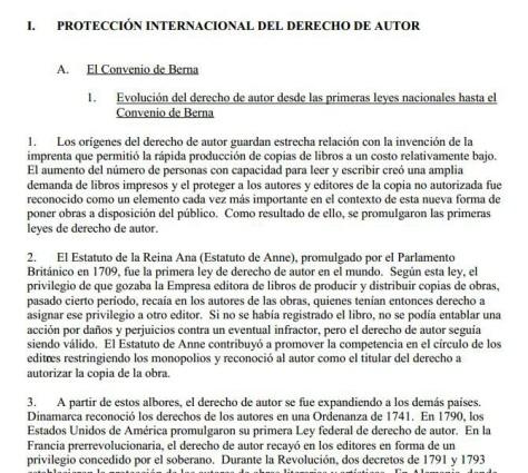Abrir documento sobre la protección internacional de los Derechos de Autor
