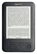 Amazon Kindle 3, an e-reader displaying part of an e-book on its screen. (cc) NotFromUtrecht