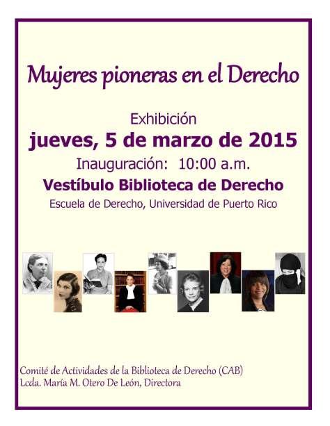 Mujeres pioneras en el Derecho invitación