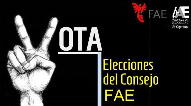 Elecciones del Consejo FAE: ¡Vamos a votar, es fácil!