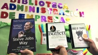 *The Steve Jobs Way -by Jay Elliot *Buffet: The Making of an American Capitalist -by Roger Lowenstein *Lords of Finance: The Bankers Who Broke the World -by Liaquat Ahamed