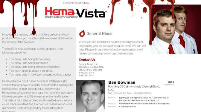 Los que negocian tu sangre para lucrarse