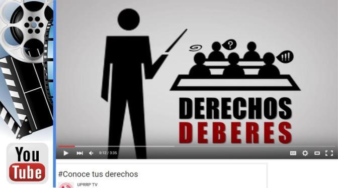 #ConoceTusDeberes y #ConoceTusDerechos [vídeo]