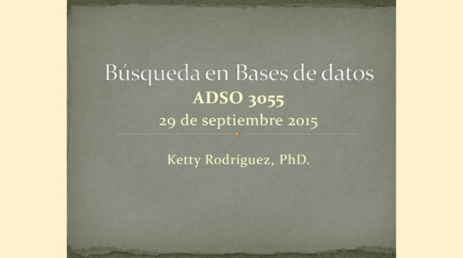 Búsqueda en Bases de Datos para curso ADSO 3055