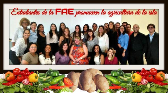 Estudiantes de la FAE promueven la agricultura de la isla