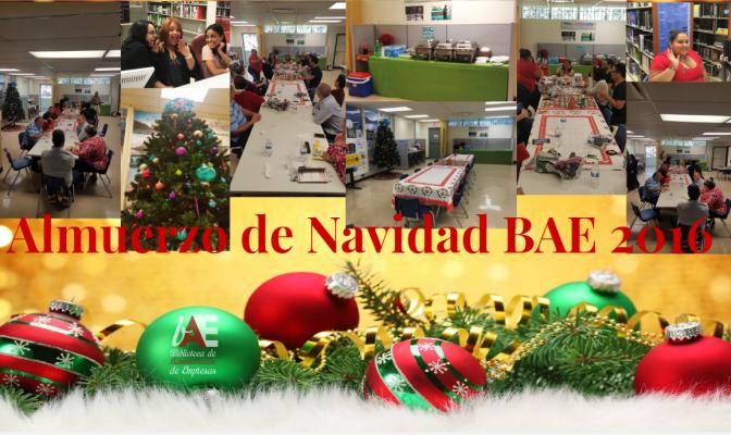Compartir navideño en la BAE…