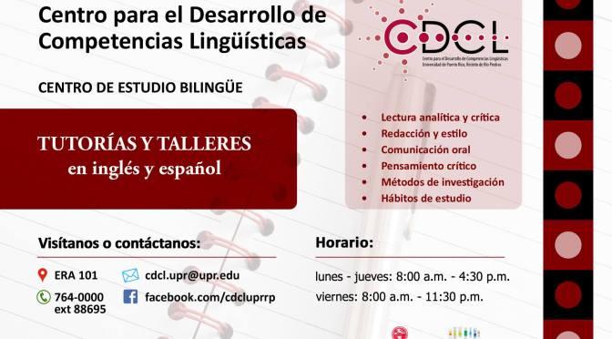 Talleres y tutorías individuales – Desarrollo de competencias linguisticas (CDCL)
