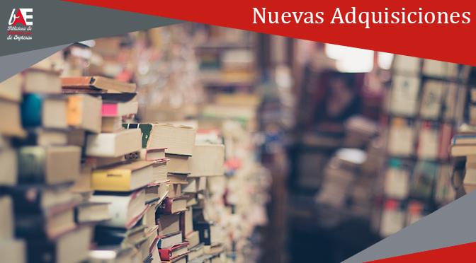 Nuevas Adquisiciones de libros electrónicos 2019