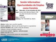 Sesión Informativa: Oportunidades de Empleo como Censista