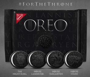 Figura 6. Edición especial de las galletas Oreos en relación a Game of Thrones.