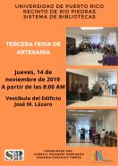 TERCERA FERIA DE ARTESANIA