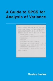 A Guide to SPSS for Analysis of Variance