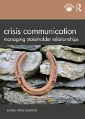 Crisis Communication- Managing Stakeholder Relationships