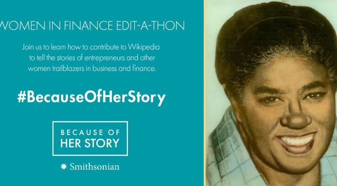 Women in Finance Wikipedia Edit-a-thon